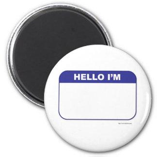 Promotional Custom Name Tag Magnet