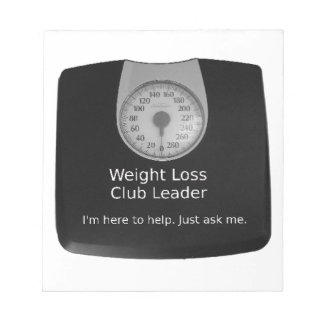 Promotional Design For Weight Loss Coaches Notepad