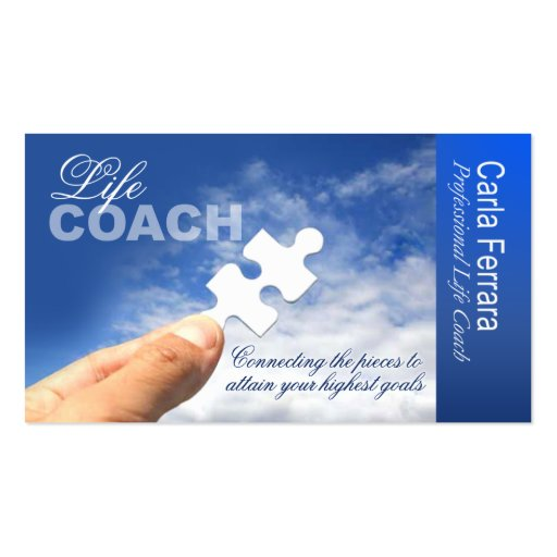 Promotional for life coach spiritual counseling business for Life coaching business cards