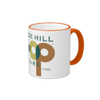 Promotional items for College Hill Cooperative Ringer Mug