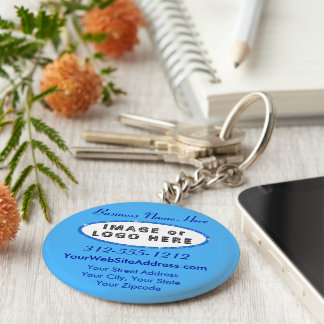 Promotional Keychains No Minimum Your Image/Logo