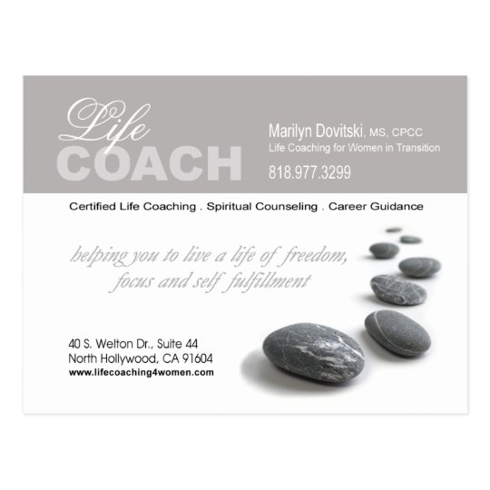 PROMOTIONAL Life Coach advertisement Postcard