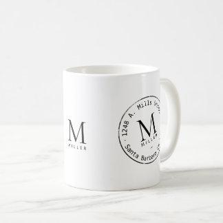 promotional monogram coffee mug