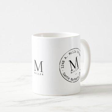 Professional Business promotional monogram coffee mug