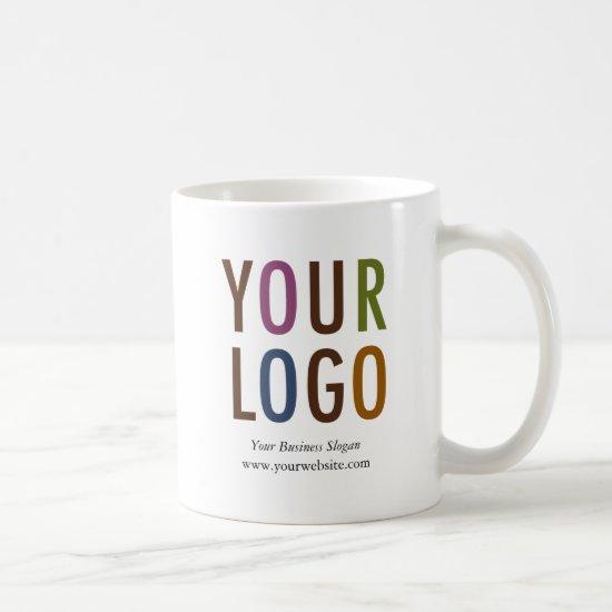 Promotional Mug with Company Logo 11 oz No Minimum