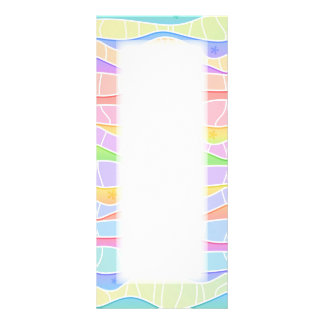 PROMOTIONAL PASTEL RAINBOW STRIPES RACK CARD