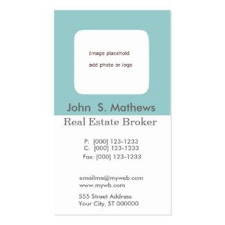 Promotional Photo Hole Aqua Blue DIY Customization Business Card