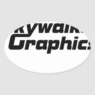 Promotional products oval sticker