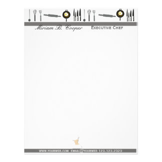 Promotional Professional Cook Chef Letterhead