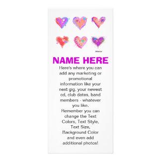 Promotional Rack Cards - Pop Art Crazy Hearts 2