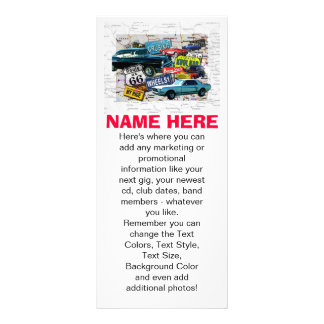 Promotional Rack Cards - Route 66 Classic Cars
