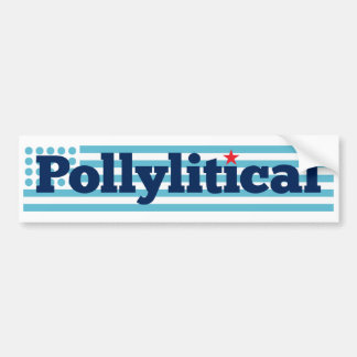 Promotional sticker for pollitical blog