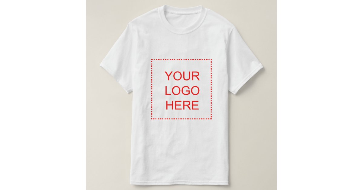Promotional t shirts with business logo or photo zazzle for Custom business logo t shirts