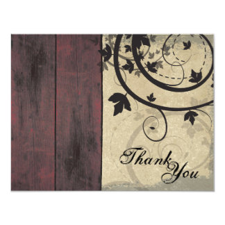 Promotional Thank You Referral Card Barn Board