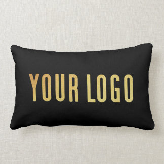 Promotional Your Company or Event Logo Lumbar Blk Lumbar Pillow