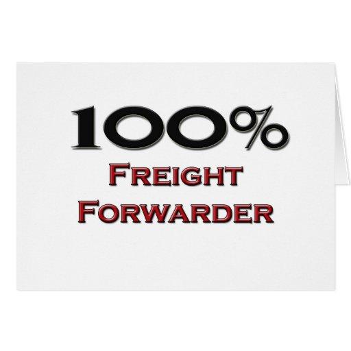 Promotor de carga del 100 por ciento tarjeta de felicitación