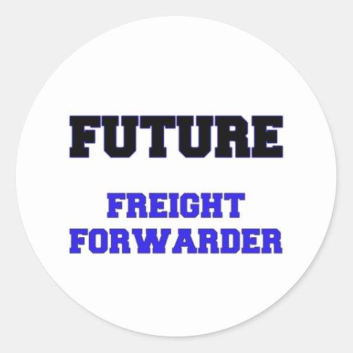 Promotor de carga futuro pegatina redonda