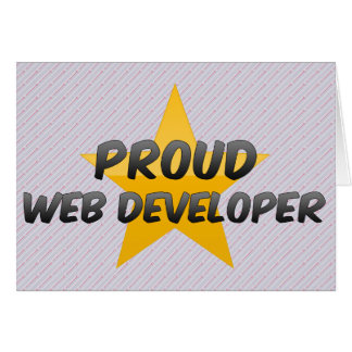 Promotor de Web orgulloso Tarjetón