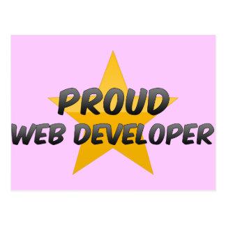 Promotor de Web orgulloso Postal