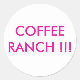 Promotor del café pegatina redonda
