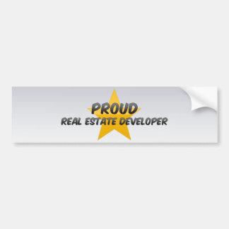 Promotor inmobiliario orgulloso pegatina de parachoque