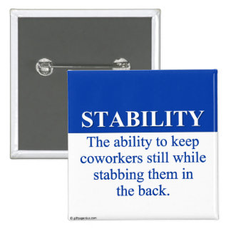 Promover la estabilidad del lugar de trabajo (3) pins