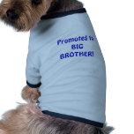 Promovido a hermano mayor camiseta de mascota