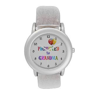 Promovido a la abuela, diseño colorido relojes de mano