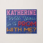 """Promposal Idea Puzzle<br><div class=""""desc"""">Looking for a creative way to ask someone to the prom? Why not create them a custom promposal puzzle. Add the name of the person that you are asking to prom. Sign your name at the bottom. Will You Go To Prom With Me? puzzle is a fun way to create...</div>"""