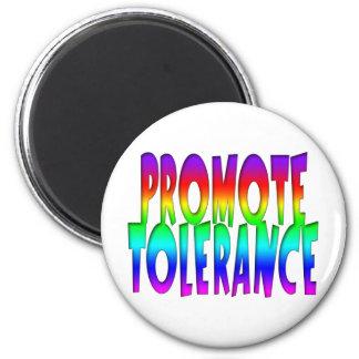 Promueva el arco iris de la tolerancia imán redondo 5 cm