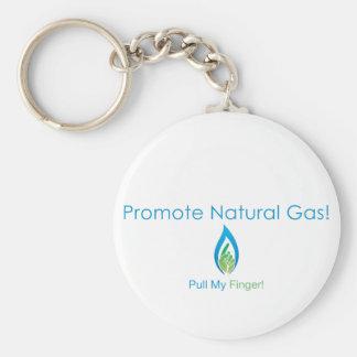 Promueva el gas natural llaveros