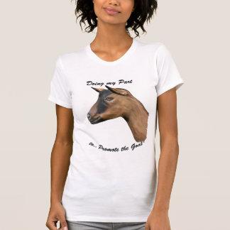 Promueva la cabra - retrato de la cabra de tee shirt