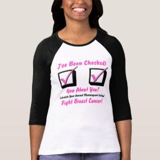 Promueva la conciencia del cáncer de pecho, playera