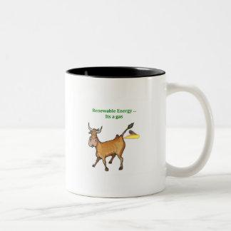Promueva la energía renovable tazas de café