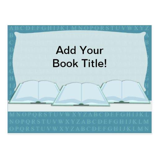 ¡Promueva su libro! Postal