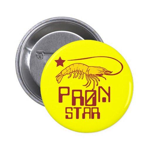 Pron Star Pinback Button