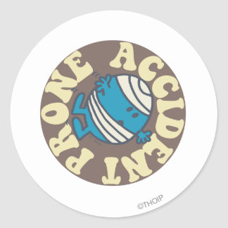 Prone Accident Classic Round Sticker