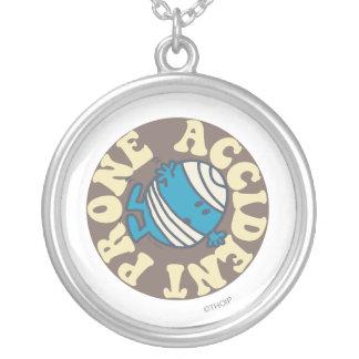 Prone Accident Round Pendant Necklace