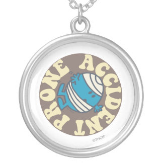Prone Accident Silver Plated Necklace