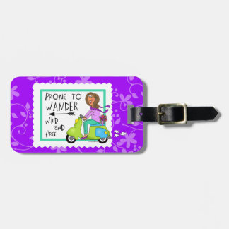 Prone to Wander Wild and Free Luggage Tag