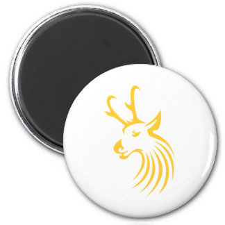 Pronghorn Antelope in Swish Drawing Style Magnet
