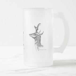 Pronghorn Frosted Glass Beer Mug