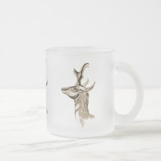 Pronghorn Frosted Glass Coffee Mug