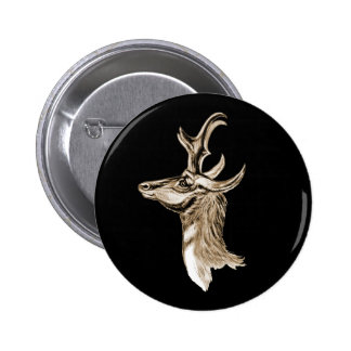 Pronghorn Pin Redondo De 2 Pulgadas