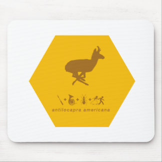 pronghorn yellow and brown.png mouse pad