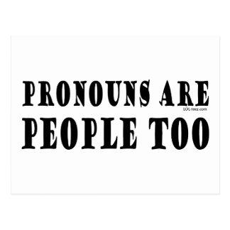 Pronombres Postales
