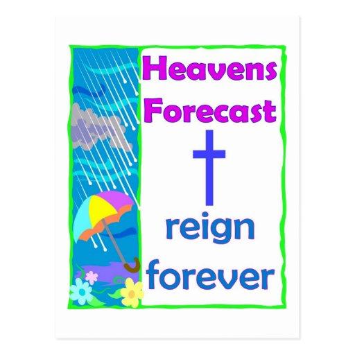Pronóstico de los cielos, del reinado cristiano pa tarjeta postal