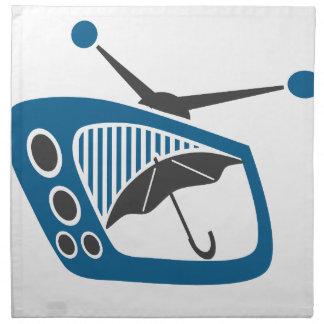 Pronóstico del paraguas de la lluvia de la TV Servilletas Imprimidas