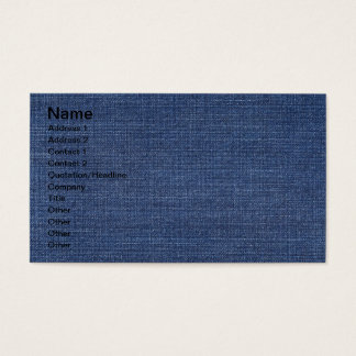 Pronounced Texture Of Blue Jeans Business Card