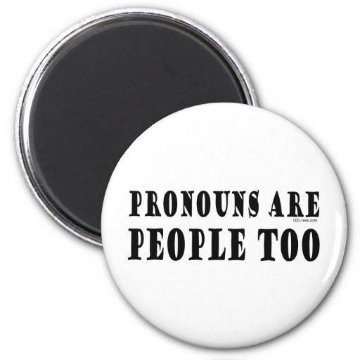 Pronouns 2 Inch Round Magnet